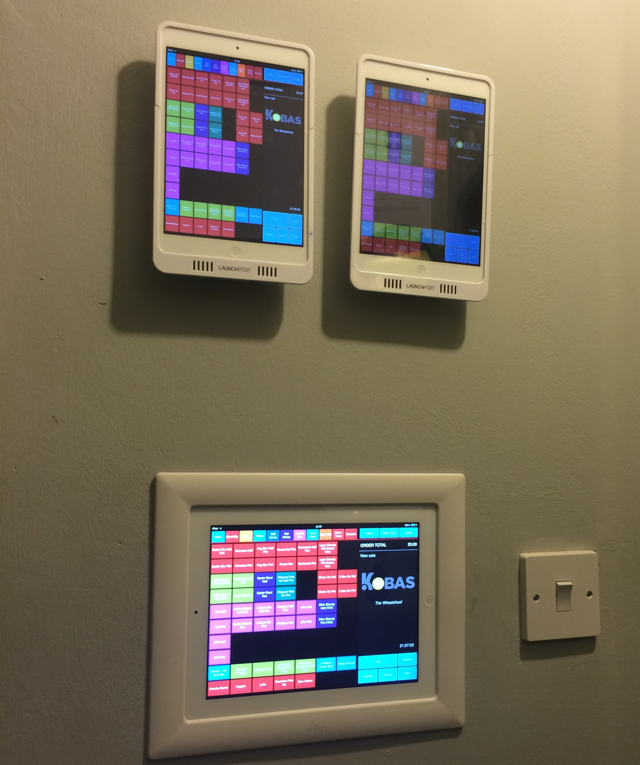 Wall Mounted iPads