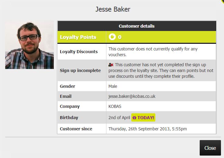Loyalty Customer Detail View