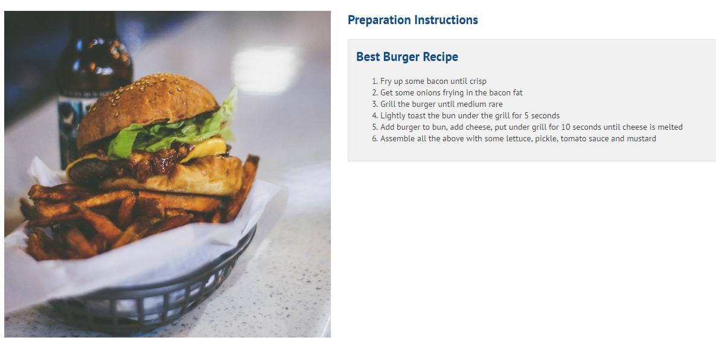 burger prep