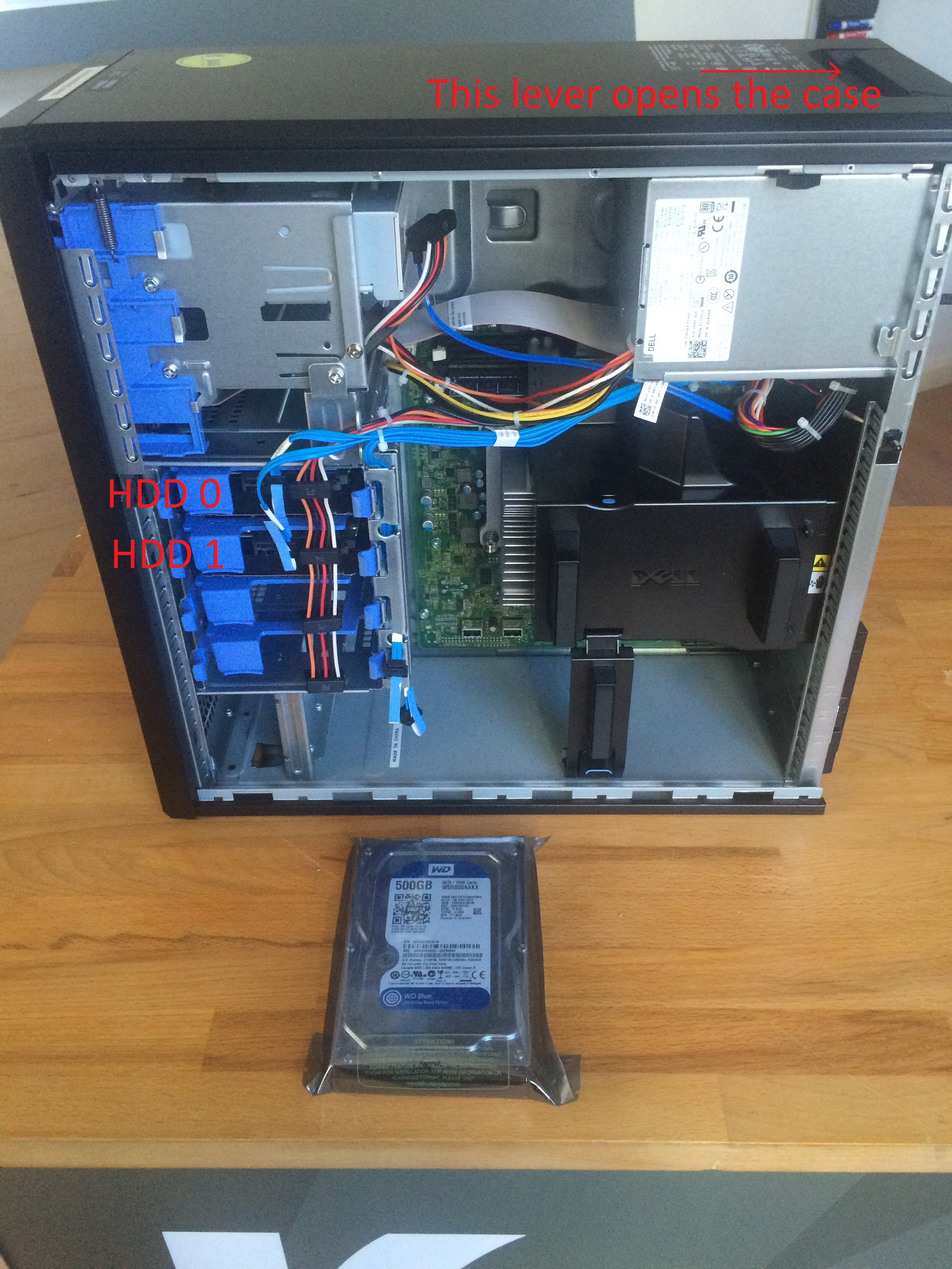 Dell Case Open